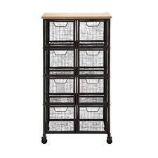 Organize with Metal & Wood Storage Cabinet