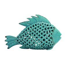 Enticing Polished Songhua Ceramic Fish Figurine