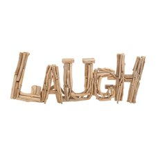 """Unique and Classy Driftwood """"Laugh"""" Letter Block Wall Décor"""