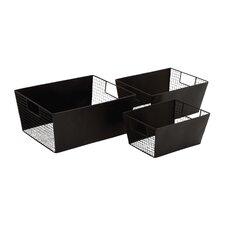 Smart 3 Piece Metal Wire Basket Set