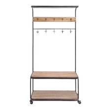 The Simple Metal Wood Clothes Rack