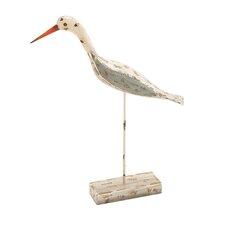 Adorable and Unique Wood Metal Sea Bird Statue