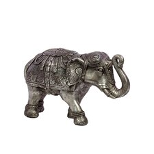 Beautifully Decorated Resin Elephant Figurine