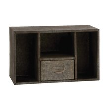 Attractive and Rusty Styled Square Wall Shelf