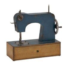 Antique Styled Metal Sewing Machine Décor Sculpture