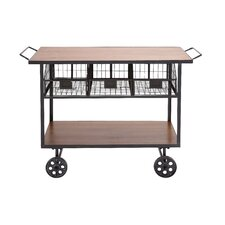 The Heartthrob Metal Wood Utility Cart