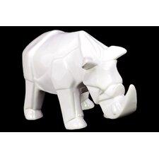 Contemporary Décor Gorgeous Ceramic Rhino Figurine