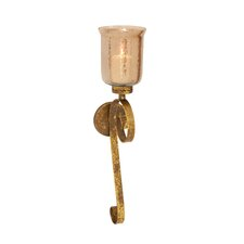Timeless and Cool Metal Glass Sconce