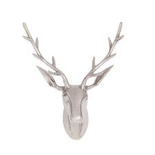 Cool and Beautiful Aluminum Reindeer Head Wall Décor