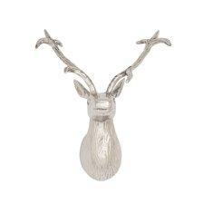 Amazingly Real Aluminum Reindeer Head Wall Décor