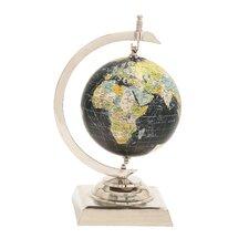 Captivating Aluminum World Globe