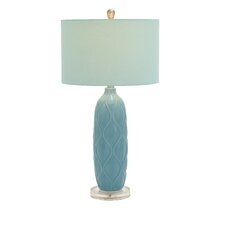 """Ceramic Acrylic 29"""" H Table Lamp with Drum Shade"""