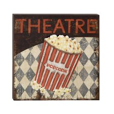 Funky Wood Metal Theatre Wall Décor