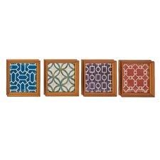 4 Piece Exclusive Wood Wall Décor Set