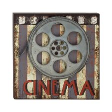 Ravishing Wood Metal Movie Plaque Wall Décor