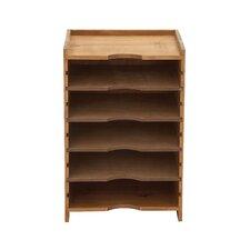 Contemporary Styled Wood Magazine Rack