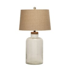 "Exquisite and Creatively Styled Glass 29"" H Table Lamp with Empire Shade"