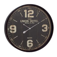 "Oversized 35"" Metal Wall Clock"