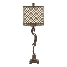"""Eye-Catching Metal Polystone 34"""" H Table Lamp with Drum Shade"""