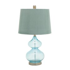 "Unique 25"" H Table Lamp with Empire Shade"
