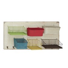Bright and Colorful Metal Wall Rack
