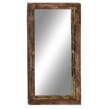 Antique Like Wood Teak Wall Mirror