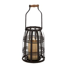 Metal Glass Candle Lantern