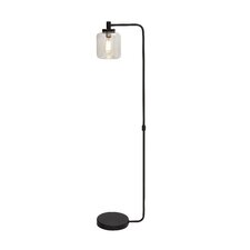 Fancy Metal Glass Floor Lamp