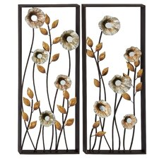 2 Piece Beautiful and Elegant Metal Wall Décor Set