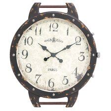 The Antique Wood Metal Wall Clock