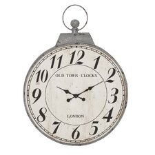 "Oversized 28"" Antique Wall Clock"