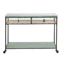 Extraordinarily Designed Metal Wood Storage Console