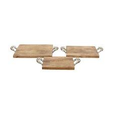 Designer 3 Piece Tray Set
