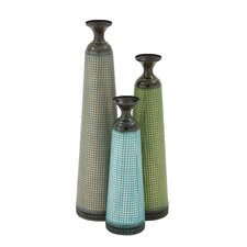 3 Piece Beautiful and Colorful Vase Set