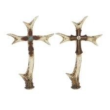 Stunning Antler Cross (Set of 2)