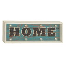 Radiant Home Sign Wall Decor