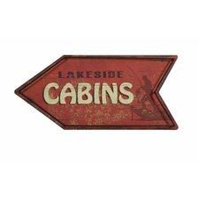 Splendid Hartshorn Cabins Arrow Sign Wall Décor