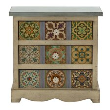 3 Drawer Gorgeous Canvas Table Chest