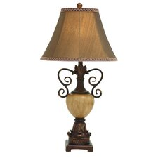 """Polystone Metal 32"""" H Table Lamp with Bell Shade"""