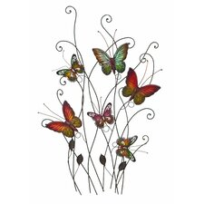 Gorgeous and Radiant Multicolored Butterflies Wall Décor