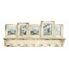 Wooden Wall Picture Frame with Coat Rack