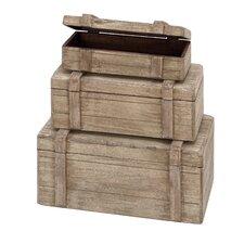 Wood Box Décor (Set of 3)