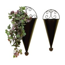 2 Piece Novelty Wall Planter Set