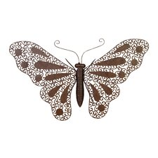 Nature Fresh Metal Butterfly Wall Décor