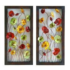 2 Piece Floral Wall Décor Set