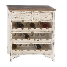 Classic Wood 2 Drawer Wine Cabinet