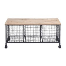 Metal Storage Entryway Bench