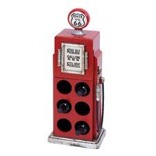 Gas Pump 6 Bottle Wine Rack