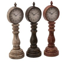 Table Clock Assorted with Charm Look (Set of 3)