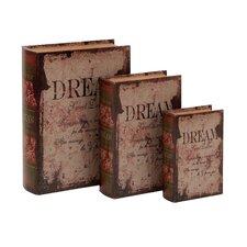 3 Piece Leather Book Box Set